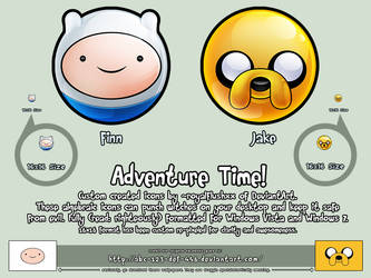 ADVENTURE TIME!! Icons by royalflushxx