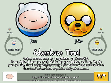 ADVENTURE TIME!! Icons