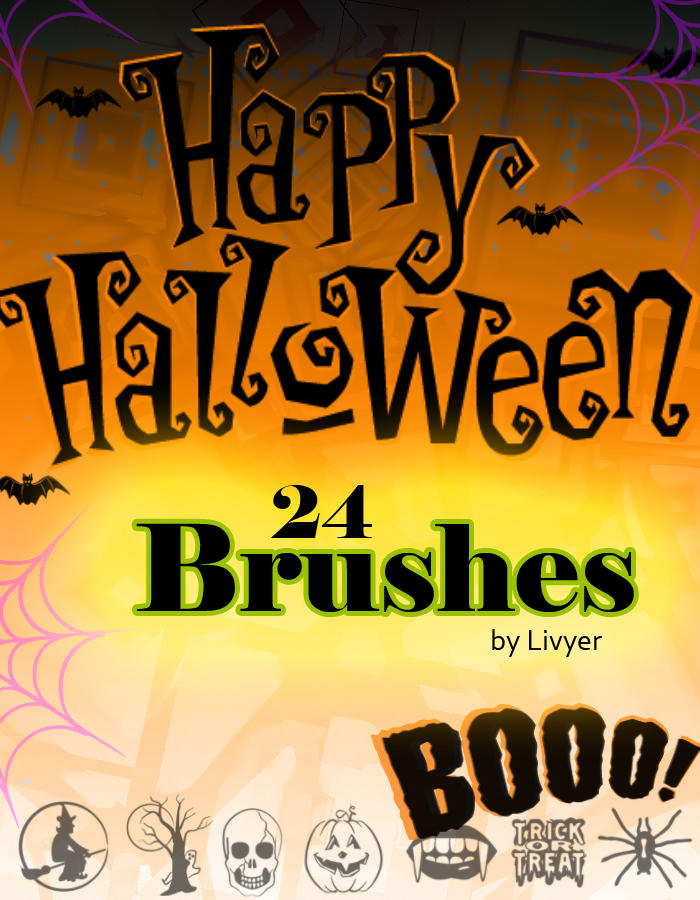 Halloween Brushes 1 by livyer
