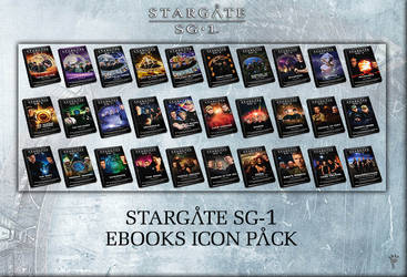Stargate SG-1 eBooks Icon Pack by P-DB