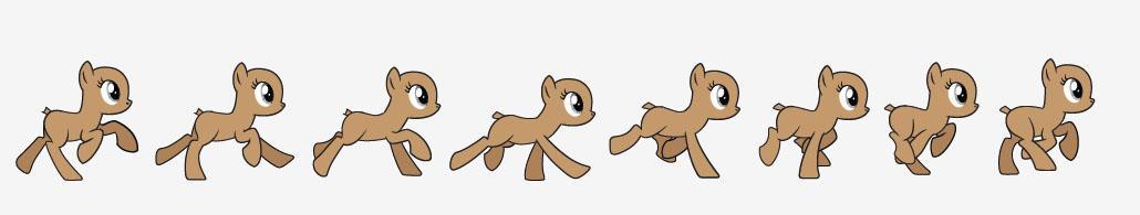 Stock - Female Pony Run Cycle Vector