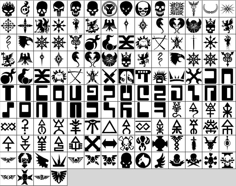 Warhammer Shapes for Photoshop by PogS