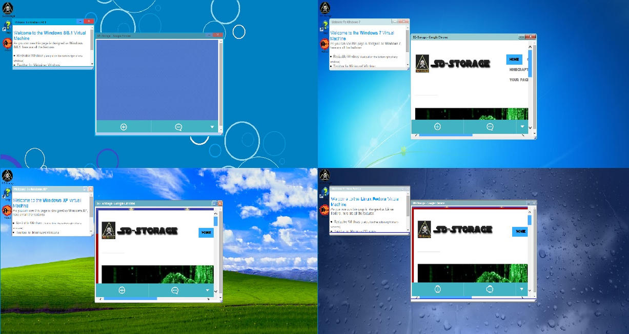 Windows XP, 7, 8, Linux designed interactive pages by Samdenty99