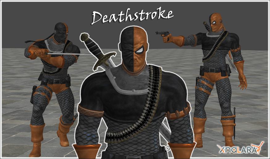 MK vs. DC: Deathstroke by blufan