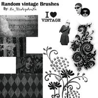 random Vintage Brushes by jenovad
