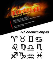 12 Zodiac Shapes by DisasterLab