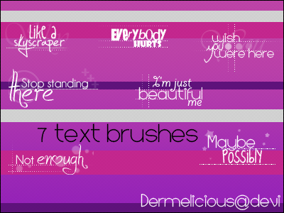 7 Text brushes by Dermelicious