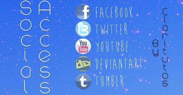 Social Access - XWidget by ClariTutos