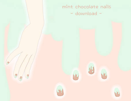 [download] mint chocolate nail texture