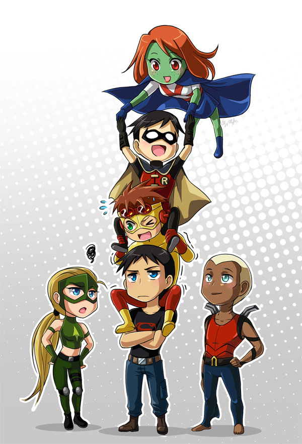 Young Justice Play Truth or Dare by misunderstoodshark on