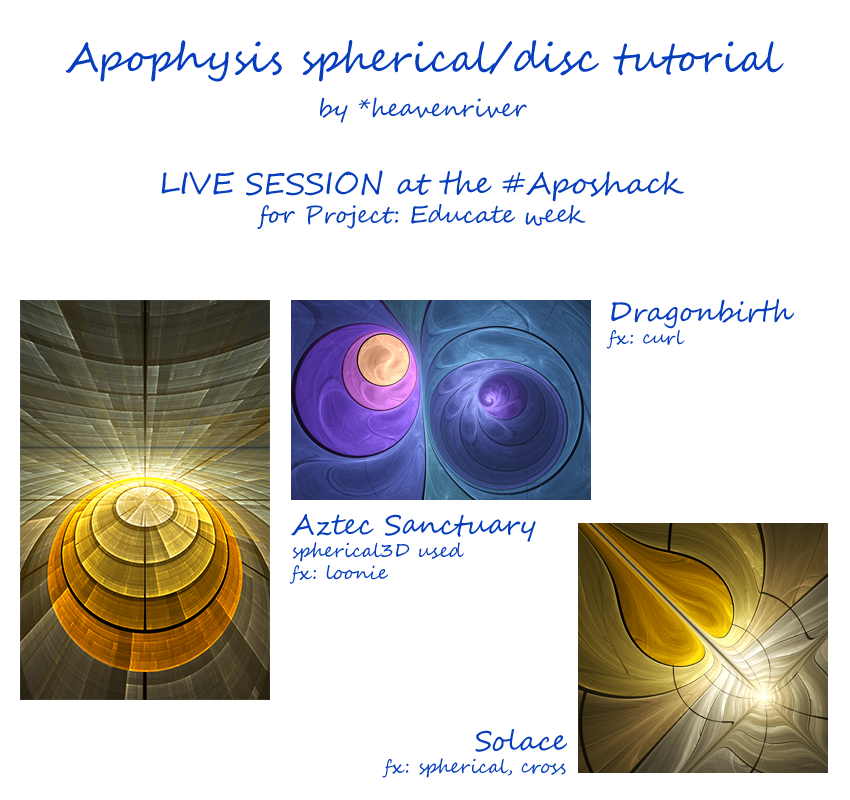 Apophysis Live Tutorial Log by heavenriver