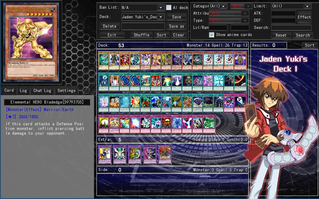 Jaden Yuki's Deck 1 by Septimoangel12 on DeviantArt