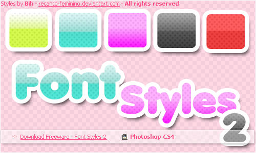 Font Styles 2 for PS by recanto-feminino