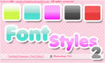 Font Styles 2 for PS