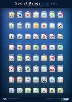 Social Bands Icons