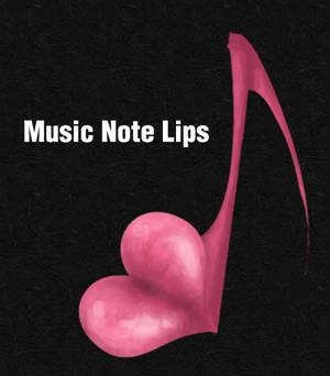 Music Note Lips Icon v.1