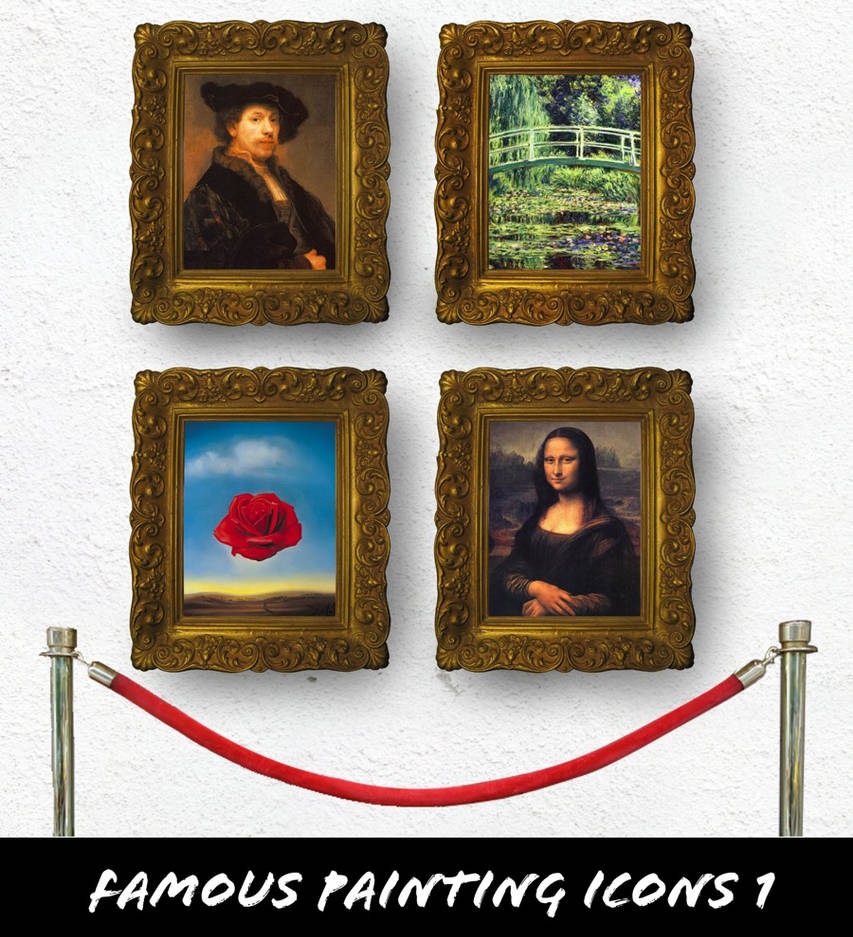 Famous Paintings Icons 1
