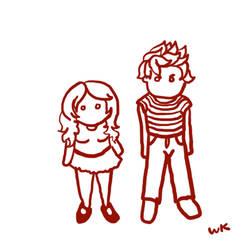 cute couple animated