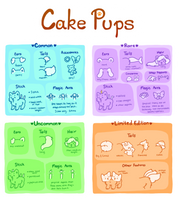 Cake Pups: Reference Sheet by artcrazy856