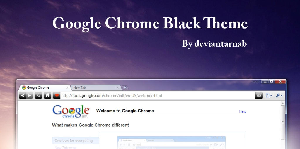 google chrome black theme temingbar