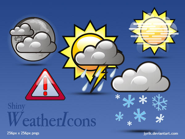 Weather Icons Shiny by JyriK