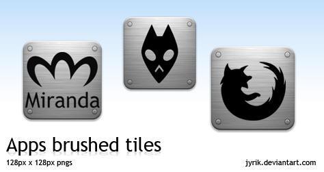 Apps pack 1 Brushed Tiles by JyriK