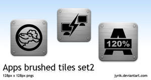 Apps pack 2 Brushed Tiles