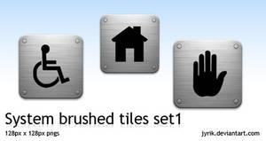 System set 1 Brushed Tiles