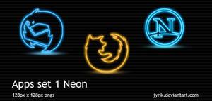 Apps set 1 Neon