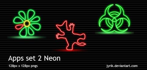 Apps set 2 Neon by JyriK
