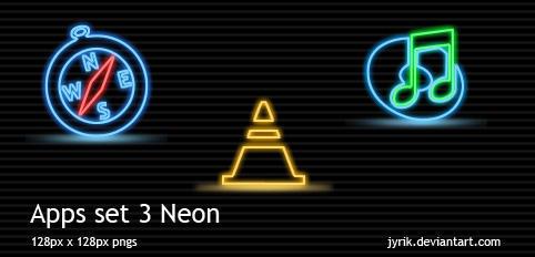 Apps set 3 Neon by JyriK