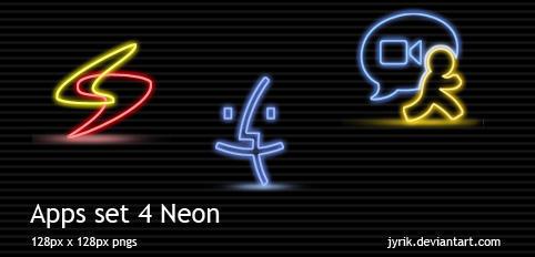 Apps set 4 Neon by JyriK
