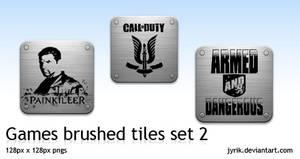 Games pack 2 brushed tiles