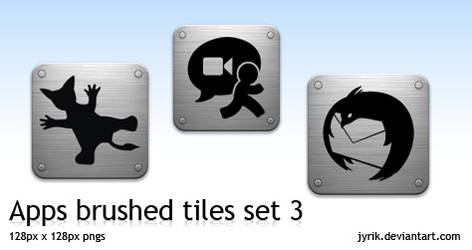 Apps pack 3 brushed tiles
