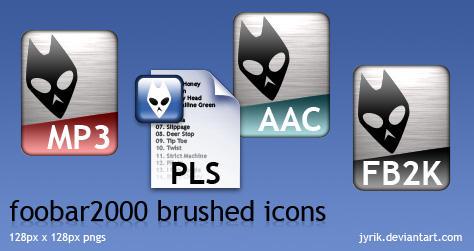 foobar2000 brushed icons by JyriK