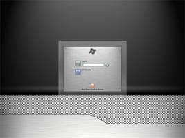 BrushedGlass Win logon UI by JyriK