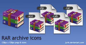 RAR archive icons