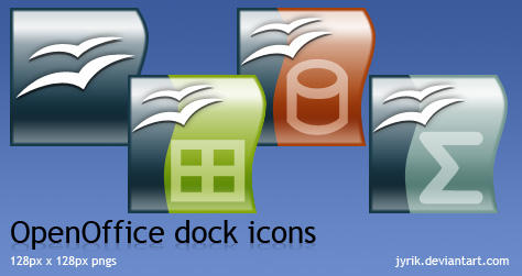 OpenOffice dock icons