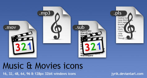 Music and Movies icon pack by JyriK