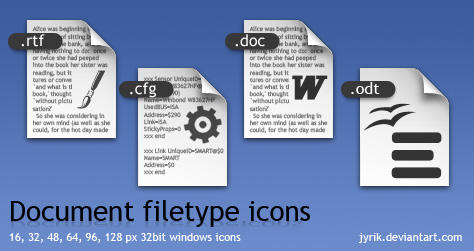 Document filetype icons