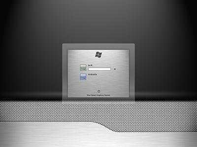 BrushedGlass v2 Win logon UI by JyriK