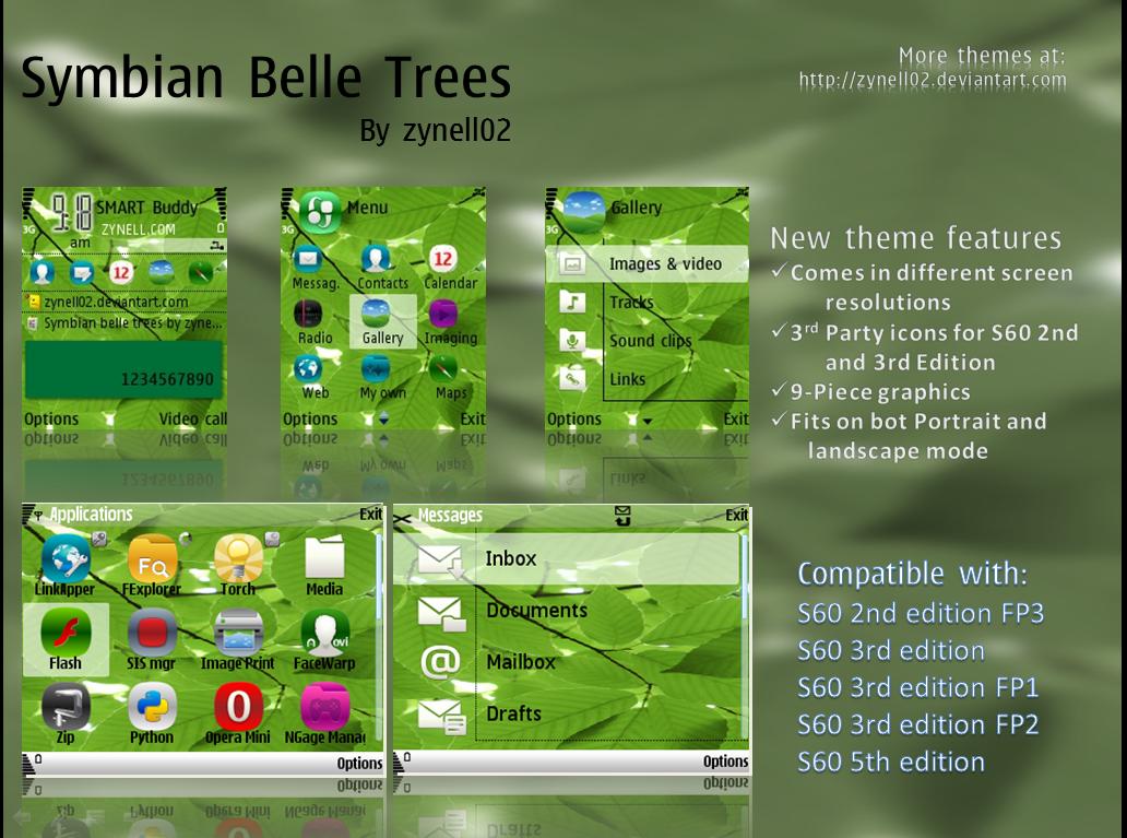 Symbian Belle Trees Released by zynell02 on DeviantArt