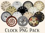 Clocks Transparent Steampunk Vintage PNG Pack