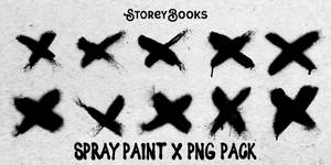 Spraypaint X PNG Pack Transparent Resource Stock