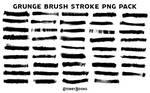 Grunge Brush Stroke PNG Pack Transparent Banner