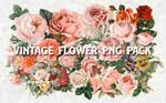 Vintage Flower PNG Pack Stock Resource Antique