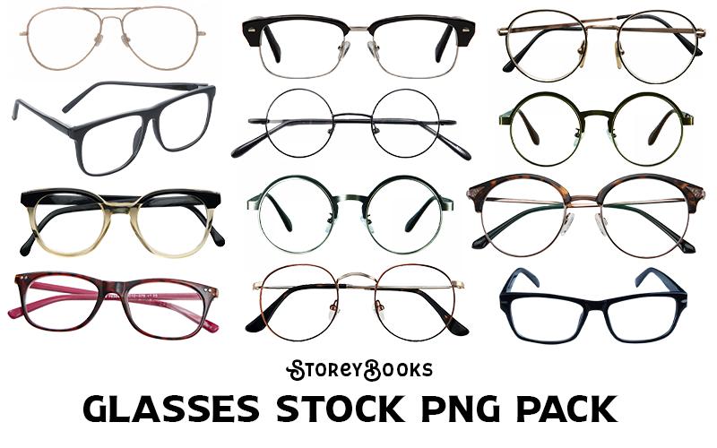 Glasses Stock Transparent PNG Pack Vintage Nerd