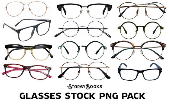 Glasses Stock Transparent PNG Pack Vintage Nerd