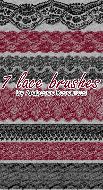 7 Lace Brushes by Arabesco-Resources