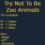 Try Not To Be Zoo Animals by KateMarquet